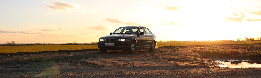 BMW Car at Sunset